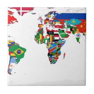 Flagged World - Map of Flags of the World Tile
