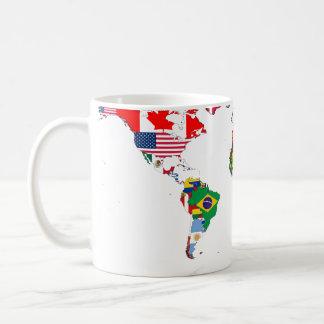 Flagged world mug