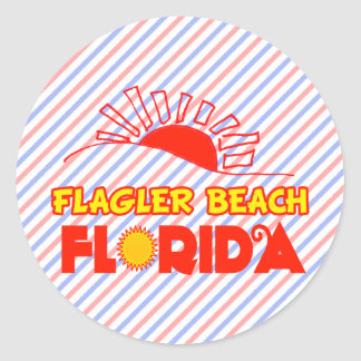 Flagler Beach, Florida Classic Round Sticker