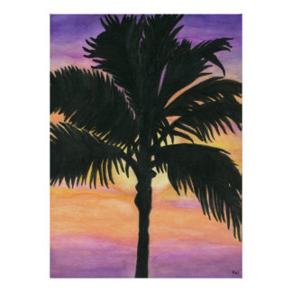 Flagler Beach Palm Tree Posters