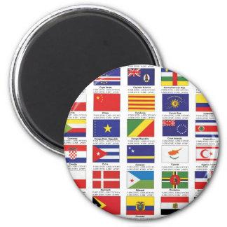 flags2 6 cm round magnet