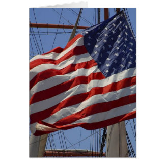 Flags American Greeting Card