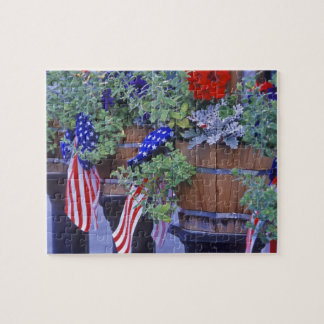 Flags and Flowers in Philipsburg Montana Puzzle
