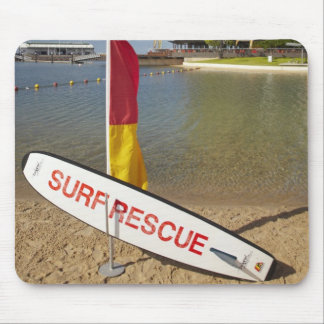 Flags and surf rescue board mouse pad