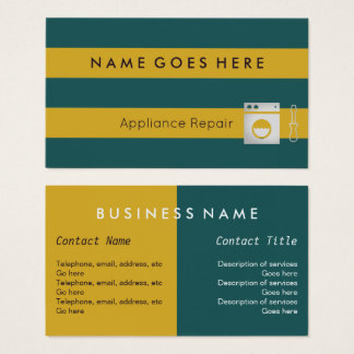 """""""Flags"""" Appliance Repair Business Cards"""