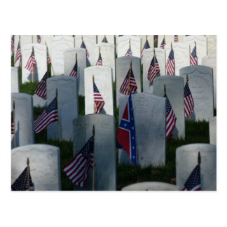 Flags at Cave Hill Cemetery Postcard