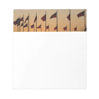 Flags at Sunset I American Patriotic USA Notepad