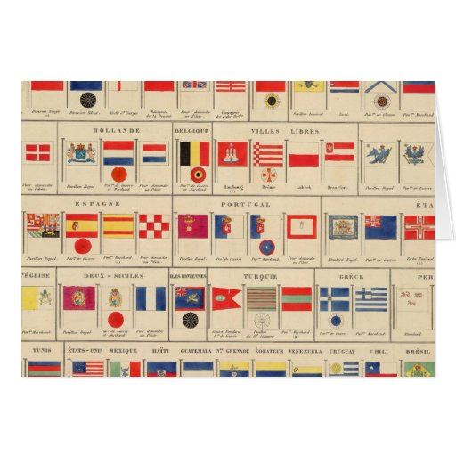 Flags, Badges Card