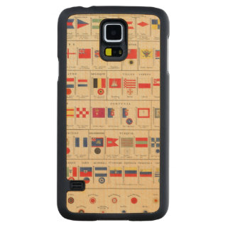 Flags, Badges Carved® Maple Galaxy S5 Case