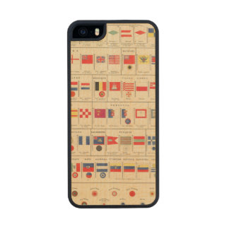 Flags, Badges Carved® Maple iPhone 5 Case