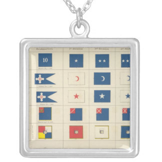 Flags, badges, etc silver plated necklace