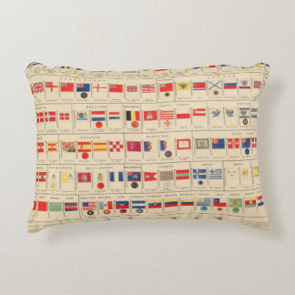 Flags, Badges Accent Pillow