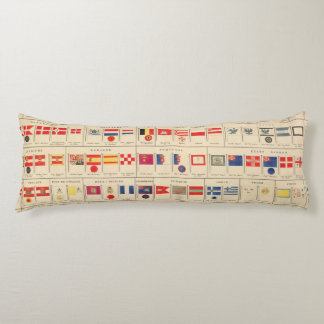 Flags, Badges Body Pillow