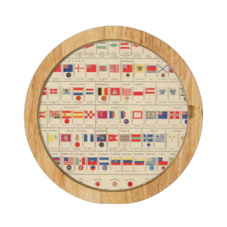 Flags, Badges Round Cheese Board