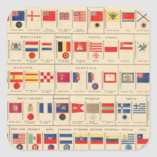 Flags, Badges Square Sticker