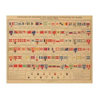 Flags, Badges Wood Prints