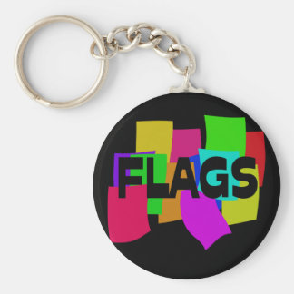 Flags Basic Round Button Key Ring