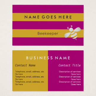 """Flags"" Beekeeper Business Cards"