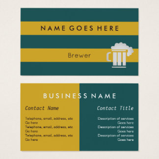 """Flags"" Brewer Business Cards"