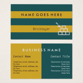 """""""Flags"""" Bricklayer Business Cards"""