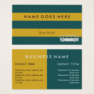 """""""Flags"""" Bus Hire Business Cards"""