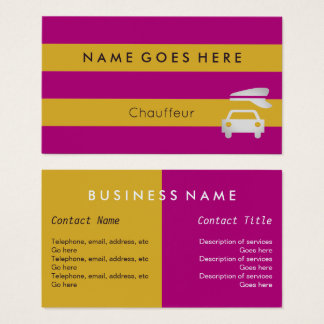 """Flags"" Chauffeur Business Cards"