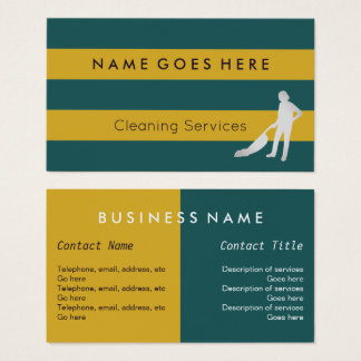 """""""Flags"""" Cleaner Business Cards"""
