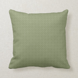 Flags clear olive green cushion