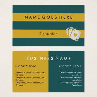 """Flags"" Croupier Business Cards"