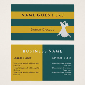 """Flags"" Dance Business Cards"