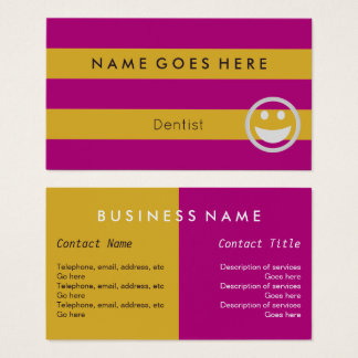 """""""Flags"""" Dentist Business Cards"""
