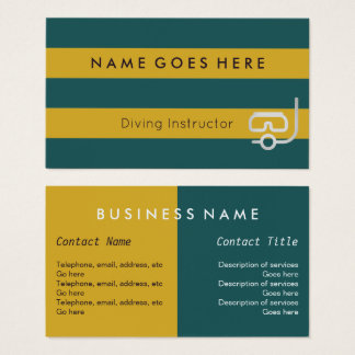 """""""Flags"""" Diving Instructor Business Cards"""