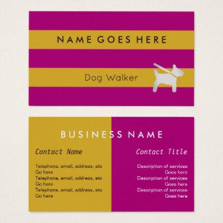 """Flags"" Dog Walker Business Cards"