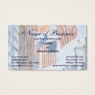 Flags, Fifth Avenue by Frederick Childe Hassam Business Card