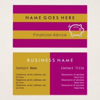 """Flags"" Financial Advisor Business Cards"
