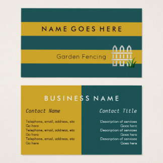"""""""Flags"""" Garden Fencing Business Cards"""