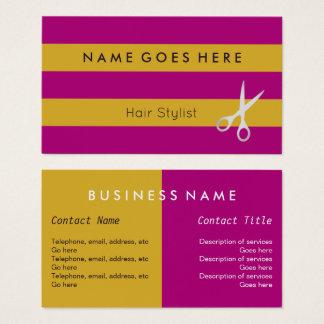 """Flags"" Hair Stylist Business Cards"
