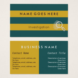 """Flags"" Investigator Business Cards"