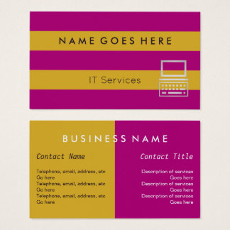 """""""Flags"""" IT Professional Business Cards"""