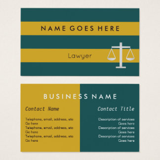"""Flags"" Lawyer Business Cards"