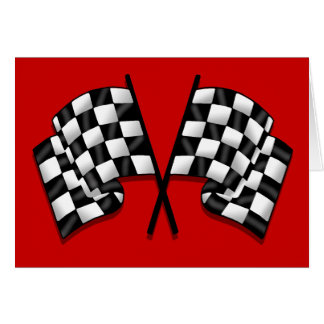 Flags - Motorsport chequered flag racing Card