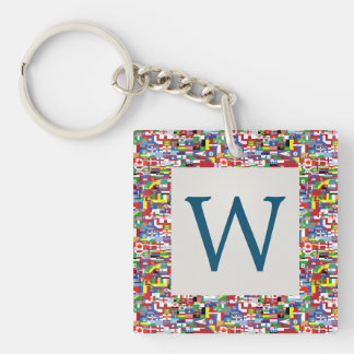 Flags of All Nations Key Ring