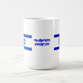 Flags of Israel and Jerusalem Coffee Mug