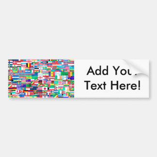 Flags of Nations Collage Bumper Sticker