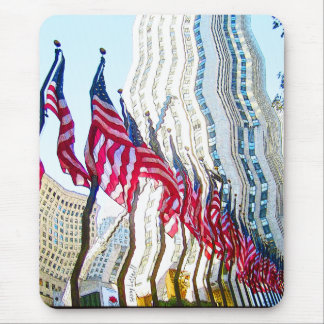 Flags of Rockefeller Center New York City Mouse Pad