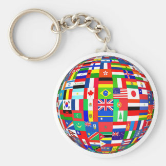 FLAGS OF THE GLOBE KEY RING