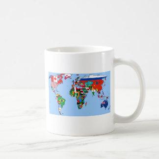 Flags of the world 2014 basic white mug