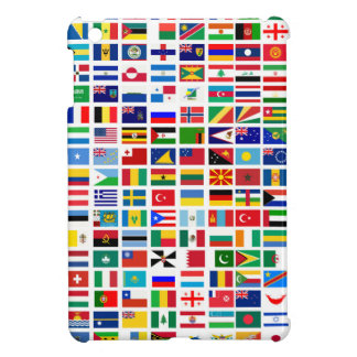 flags of the world against white iPad mini case