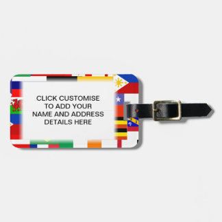 Flags of the world collage luggage tag