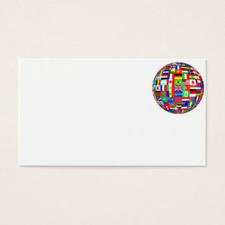 FLAGS OF THE WORLD - COLOURFUL BEST SELLER! BUSINESS CARD